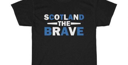 Scotland The Brave Unisex T Shirt Black L