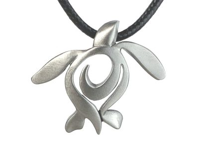 Sea Turtle Necklace Pewter Pendant Sea Turtle Gift for Women