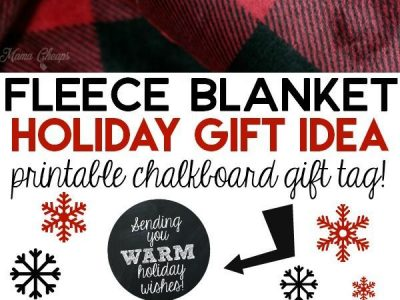 Sending You WARM Holiday Wishes Printable Gift Tag for Blankets