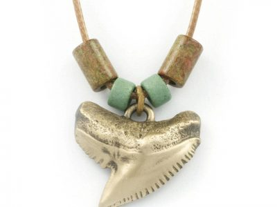 Shark Tooth Necklace for Men and Women Antique Bronze Shark