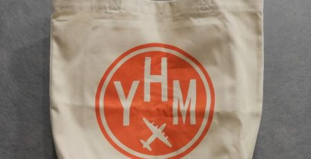 YZF Yellowknife Large Organic Cotton Tote • Airport Code