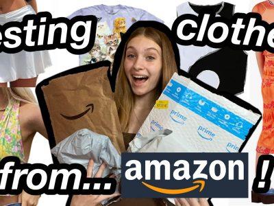 testing clothes from Amazon Amazon clothing haul