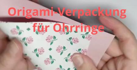 3x Origami Verpackung fur Ohrringe Kleine Box oder Umschlag selber machen