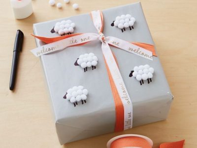 Baby gift wrap ideas Showered with love ThinkMakeShare