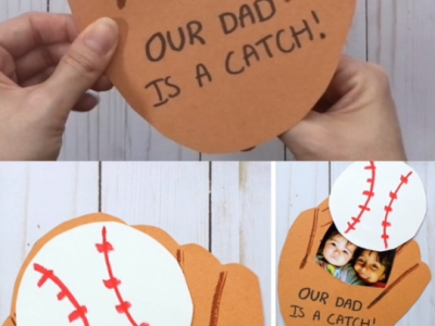 Baseball Fathers Day Pop Up Card