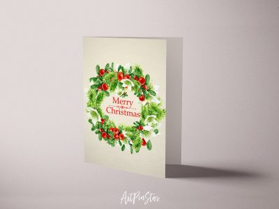 Christmas Wreath Personalized Holiday Greeting Card Collection Gift 5
