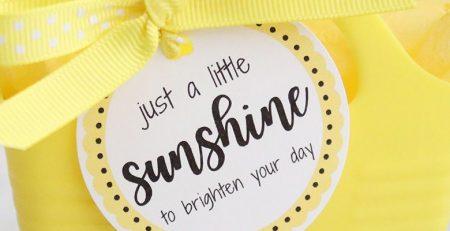 DIY Yellow Sunshine Gift Ideas and Free Printables