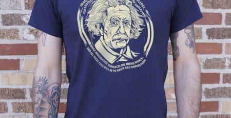 Einsteins Imagination T Shirt Mens Medium Black