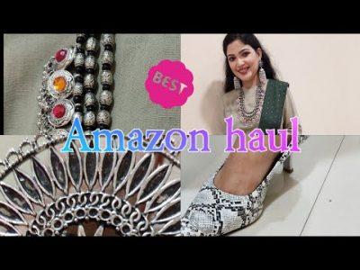 GET THE LOOK AMAZON FASHION HAUL shoes dhotisareeafghan tribal jwellery