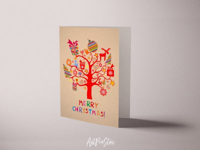 Merry Christmas Personalized Holiday Greeting Card Collection Gift 5