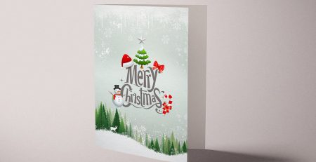 Merry Christmas Tree Personalized Holiday Greeting Card Collection Gift