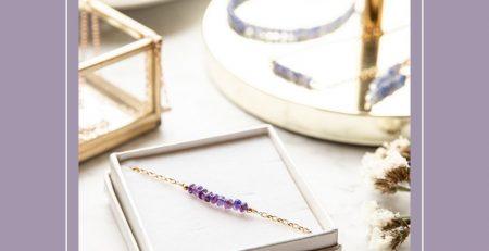 Purple Amethyst February Birthstone Gift for Women Mom Birthday Anniversary