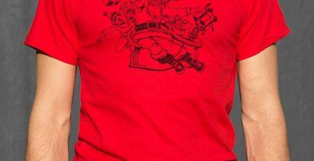 Santa Almighty T Shirt Mens Small Light Blue