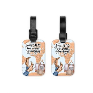 Say Yes To New Adventures Medium Luggage Tag