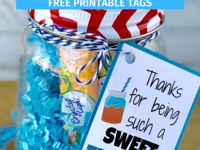 Sweet Tea Teacher Gift with Printable Tags