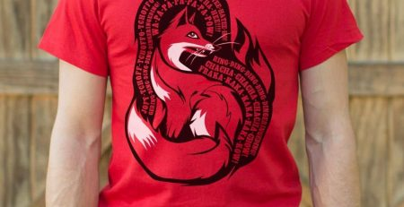 What Does The Fox Say T Shirt Mens 2X Large