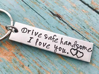 Fashion Keychain Keyring for Husband Boyfriend Girlfriend Lovers Gift Birthday