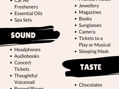 Five Senses Gift Free Printable Tags