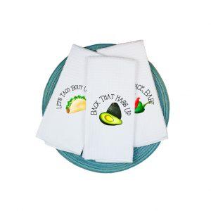 Taco Theme Funny Towels Plush Prints