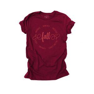 Fall Hayrides and Bonfires Maroon T Shirt
