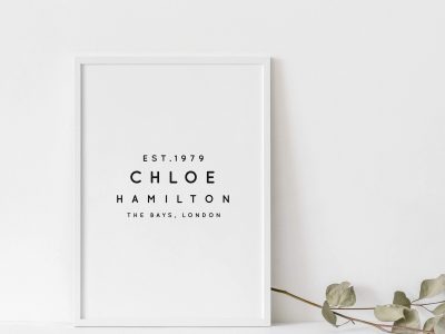 Personalised Print Custom A4 Print Gift ideas for