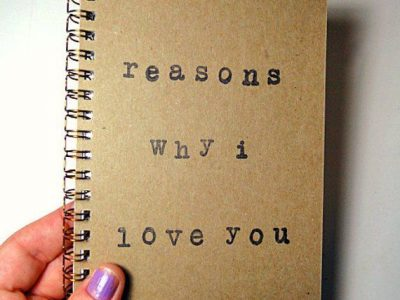 Reasons why I love you journal notebook journal quote