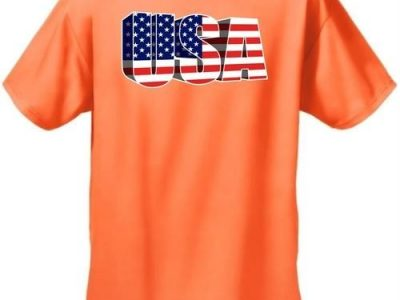 USA Flag T Shirt Mens 3D Patriotic Short Sleeve Tee