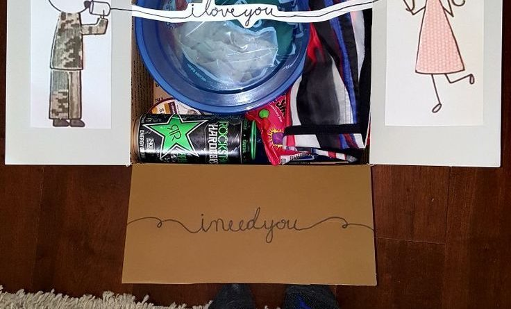 Valentines Day Gift Ideas PinWire Care package for LD boyfriend