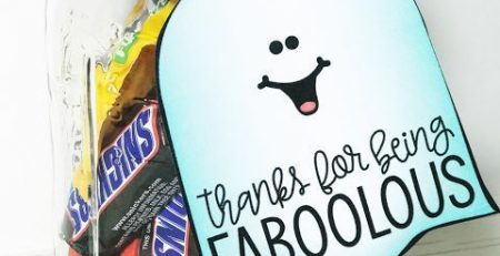 Halloween Goodies for Students and Staff Members FREEBIE LABELS