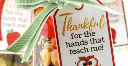 Thankful for the Hands That Teach Me Free Printable Gift