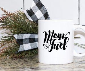 Mom Fuel White Mug