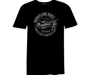 Aeroplane Rides T Shirt Black