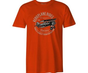 Aeroplane Rides T Shirt Orange