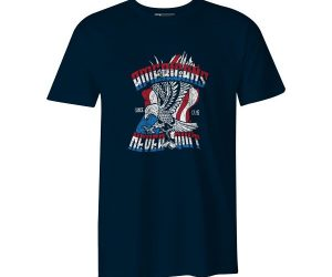 Americans Never Quit T Shirt Navy