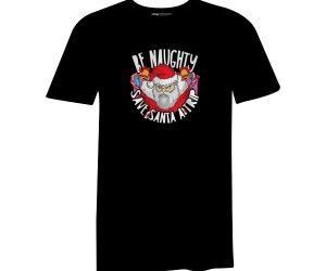 Be Naughty Save Santa A Trip T Shirt Black
