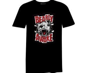 Bearly Awake T Shirt Black
