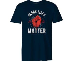 Black Lives Matter T Shirt Navy