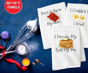 Breakfast Trio Waffle Weave Towel 2