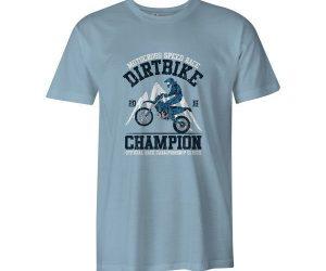 Dirtbike Champion T Shirt Baby Blue
