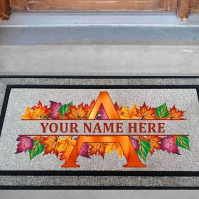 Leaf Monogram Doormat