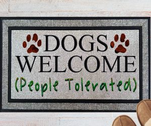 Dogs Welcome People Tolerated Welcome Doormat