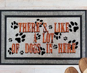 Theres Like A Lot of Dogs In Here Welcome Doormat
