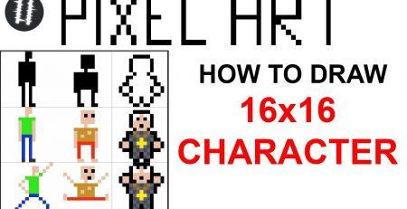 How To Pixel Art Tutorials [6] - Draw 16x16 Character