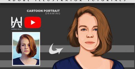 Vector Art | Vector Portrait | Cartoon Yourself - Adobe illustrator tutorials - Hammad Aslam