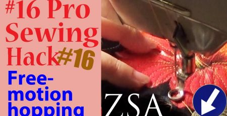 Pro Sewing Hacks: #16  | Free Motion Hopping | Zazu's Stitch Art Tutorials