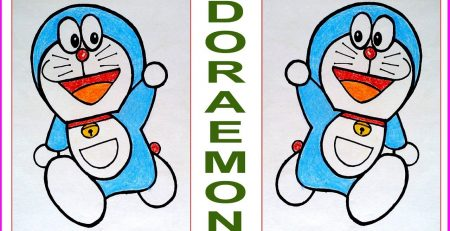 HOW TO DRAW DORAEMON-easy drawing-step by step-ART TUTORIALS for kids-S Nagender