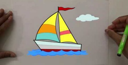 How to draw a Sail Boat for kids | drawing tutorials | Pencil drawing