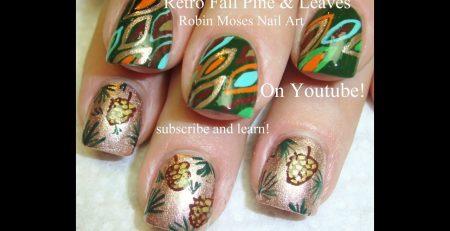 Fall Nail Art Tutorials | DIY Thanksgiving Pine Cones & Abstract Leaf Design