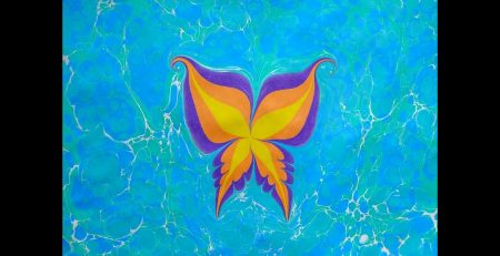 XandA Ebru Art Tutorials - Animals #9 - Butterfly