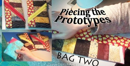 Cosmetic Bag  #2 | EASY FOLKSY Piecing |  Zazu's Stitch Art Tutorials